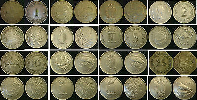 MALTA 1 cent to 1 Lira 1972 to 2005. Choose your coin Supplied in Coin Wallet