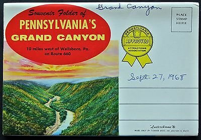 Souvenir Photo Folder - Pennsylvania's Grand Canyon 1960s