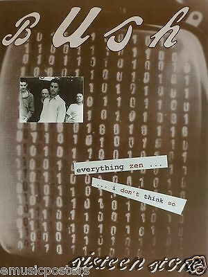 "Bush ""sixteen Stone - Everything Zen...i Don't Think So"" U.s. Promo Poster"