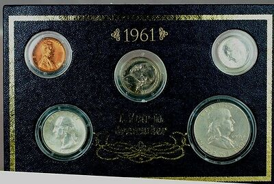 1961 American Historic Society Year Set 1 Each Cent Nickel Dime Quarter Half 819
