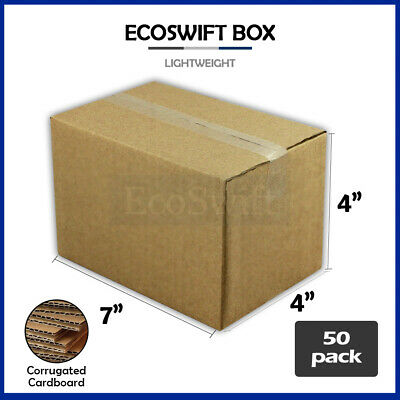 50 7x4x4 Cardboard Packing Mailing Moving Shipping Boxes Corrugated Box Cartons