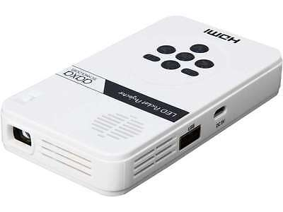 AAXA LED Pico Projector with 80 Minute Battery Life, mini-HDMI, mini-VGA, 15,000