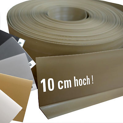 XXL 10 cm high soft PVC Socket Panel Knick Plastic Profile