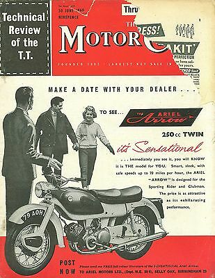 THE MOTOR CYCLE magazine 30/6/60 feat. Excelsior Monarch Mk.2, Honda Dream 247cc