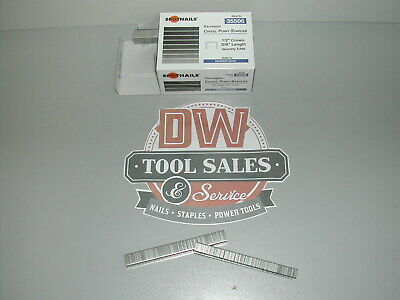"""5012C Staples 1/2"""" Crown 3/8"""" Length Galvanized for Duo Fast 50 Series CASE"""