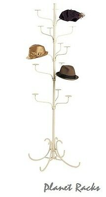 Planet Racks 5 Tier Boutique Hat Display - Ivory