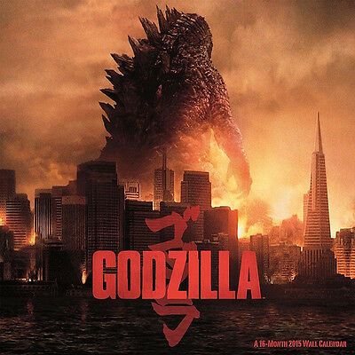 NEW Godzilla Movie 16 Month 2015 Photo Wall Calendar, NEW SEALED
