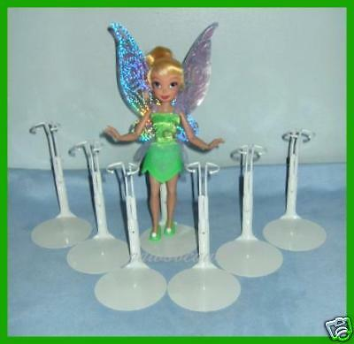 """FREE U.S.SHIPPING 6 Doll Stands for Disney 8"""" 9"""" TINKERBELL Pixie Hollow Fairies"""