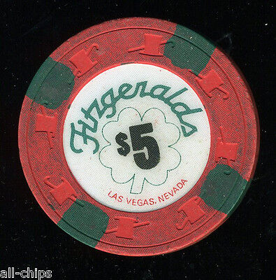 $5 Fitzgeralds House Chip OBS Used Las Vegas Casino Chip A+ Chip Sale #2