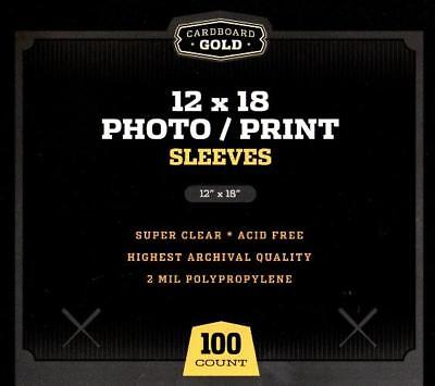 300 CBG 12 x 18 Print / Poster Archival Poly Soft Sleeves protectors holders