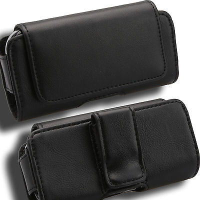 Case for LG Voyager BAUB Cover Pouch Holster Leather VX10000 Verizon Black