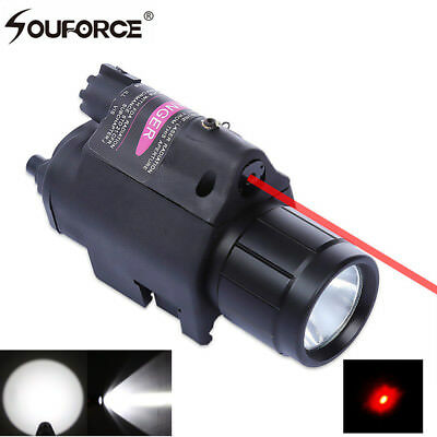 Tactical 650nm Red Dot Laser Sight + CREE LED Flashlight with Remote Switch