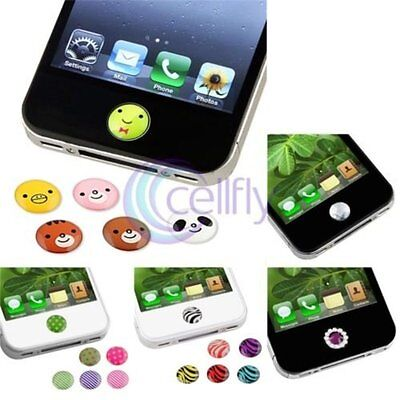 Home Button Sticker for Apple iPhone 6 5 5S 5C 4 4S iPad Air Mini iPod Touch