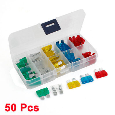 50pcs ATC Auto Motorcycle Car Boat Truck Blade Fuse Colorful 10A 15A 20A 25A 30A