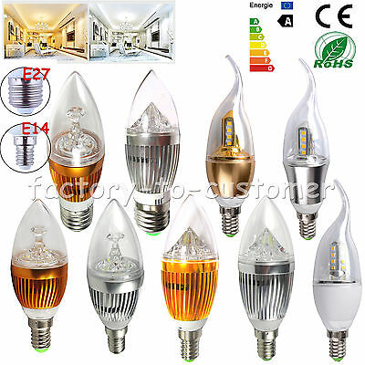 Dimmable 9W 12W E14 E27 LED Candle Light Warm Cool White Chandelier Lamp Bulb