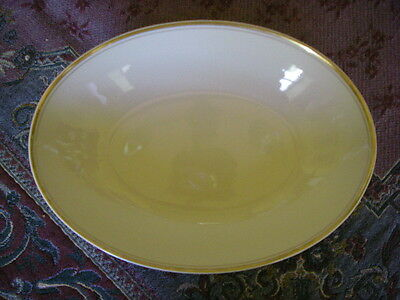 """FITZ AND FLOYD PALAIS OVAL SERVING VEGETABLE BOWL GOLD TRIM 10 3/4"""" X 7 3/4"""""""