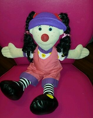 """BIG COMFY COUCH """"LARGE 17"""" LOONETTE CLOWN DOLL"""" CLOTH"""