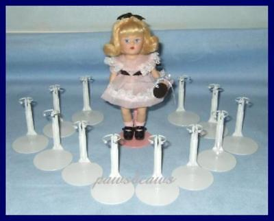 Kaiser # 1001 MINI  SIZE DOLL STANDS 3.5 to 5 inch WHITE fits Kelly dolls 12
