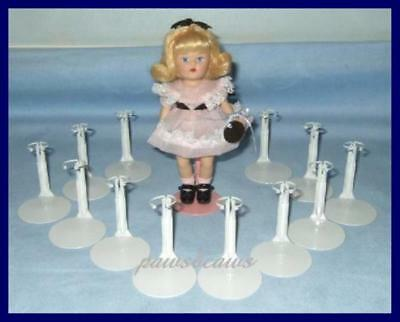 "12 White Kaiser Miniature Doll Stands for 5-1/2"" MINI GINNY U.S. Ships Free"