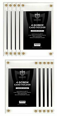 Lot of 10 Max Pro Non-Recessed 4-Screw Ultra Clear Trading Card Holders
