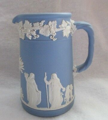 WEDGEWOOD MADE IN ENGLAND JASPER WARE POTTERY SMALL PITCHER