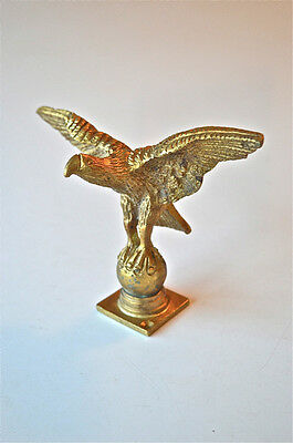 GOOD QUALITY ANTIQUE GILDED BRASS EAGLE LONGCASE CLOCK FINIAL FURNITURE MOUNT