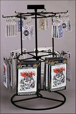 For Sale Counter Spinner Key Chain and Small Item Display - 2 Tier 12 Peg(Black)