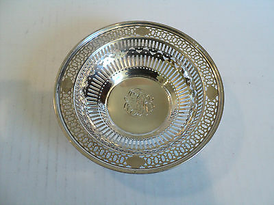 """Vintage """"Watson"""" Sterling Silver Pierced Decorated 5.5"""" Candy Dish / Bowl"""