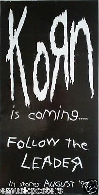 "Korn ""follow The Leader-Is Coming...in Stores Aug. 18"" Small U.s. Promo Poster"