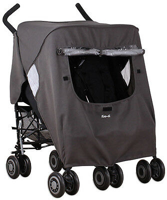 Koo-di PACK IT DOUBLE RAIN COVER TWIN Stroller/Pushchair Child/Baby - New