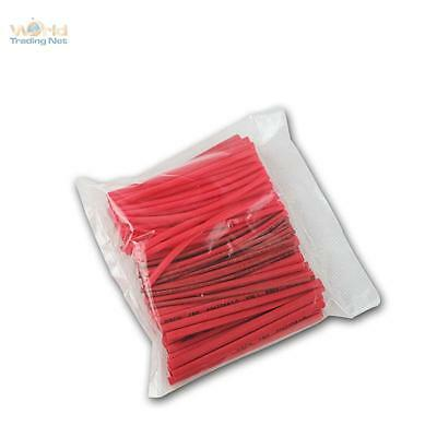 100 Piece Heat Shrink Tube Red, Insulating Hose Range, Set Loose in Bag