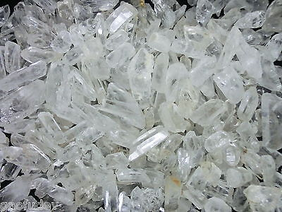 Afghanistan non-terminated Clear Quartz Crystal Stone 100 gram Small Pieces Lot