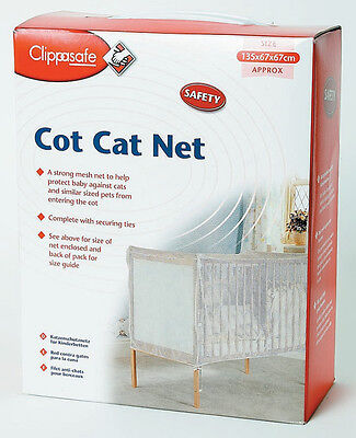 Clippasafe Child COT CAT NET Baby/Child/Kids Animal Protection Safety - BN