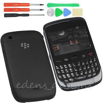 Black Full Housing  Back Cover Case+Keypad for Blackberry 9300 Curve with Tools