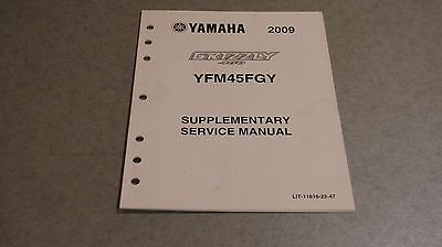 Yamaha Supplementary Service Manual 2009 Grizzly Yfm450 Lit-11616-22-47