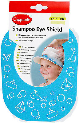 Clippasafe SHAMPOO EYE SHIELD/PROTECTION Child/Kids Safe Bath Time Accessory BN
