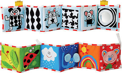 Taf Toys CLIP-ON PRAM BOOK Baby/Toddler Early Reading/Learning Toy/Gift BN