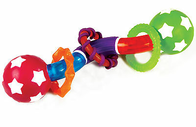 Munchkin TWISTY BARBELL TEETHER TOY Baby/Toddler Soothing Health Toy/Gift BN