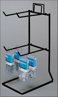 AYS 4 Peg Retail Hook Counter Top Small Product Display Rack (Black)
