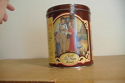 ~NESTLE' TOLL HOUSE MORSELS~50TH ANNIVERSARY TIN~1939-1989~WITH LABEL~