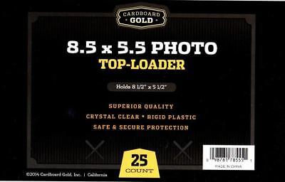 100 CBG 8.5 x 5.5 Photo /Print Rigid Topload Holders hard plastic 8.5x5.5 frames