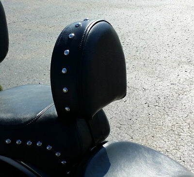 Harley Heritage Softail Fatboy Motorcycle Driver Backrest 93-06 EZ ON/OFF