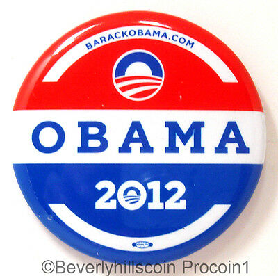 """Official OBAMA 2012 Presidential Campaign Button 2 1/4"""" Union Made"""