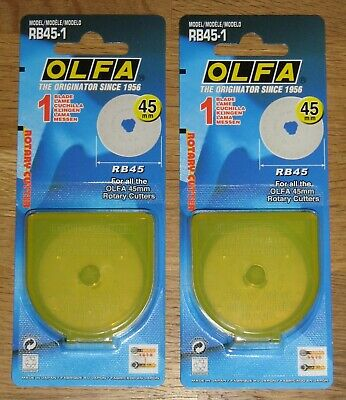 Olfa RB45 45mm Rotary Cutter Spare Blade - 2 Blades ( fit RTY-2/G and RTY-2/DX )