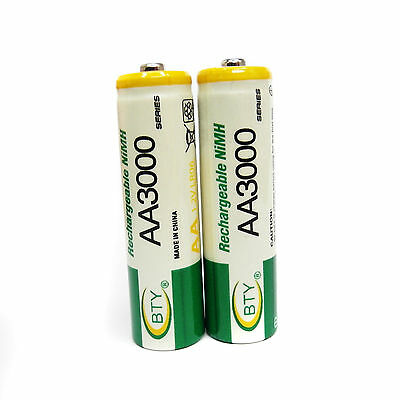 4 pcs AA Cell 3000mAh Ni-MH Rechargeable Battery BTY For CD player camera flash