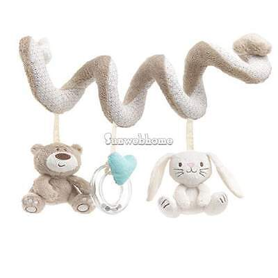 Bear Cot Spiral Activity Hanging  Baby Toddler Soft Plush Doll Educational Toys