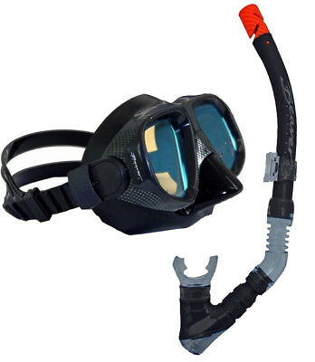 BWS COLOUR ENHANCE Pro Mask Snorkel Set with Protective Mask Box - Yellow