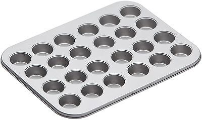 Kitchen Craft Non Stick 24 Mini 4cm Hole Canape Tart Tartlet Baking Sheet Tray