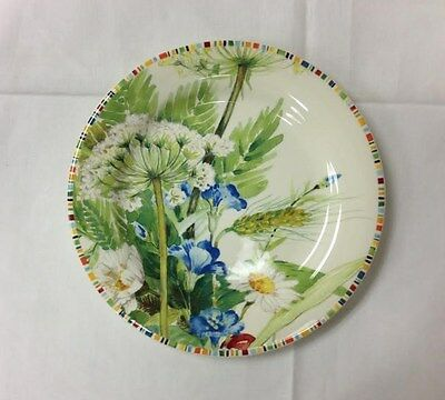 """Gien """"cherry"""" Canape Plate 6 5/8"""" Stoneware French Faience New"""