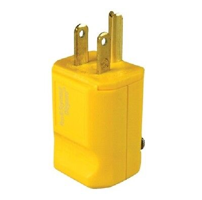 Pass & Seymour PS5965-Y Straight Blade Plug, 2P 3-Wire 15A 125V, 5-15P, Yellow